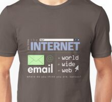 Where Do You Think You Are, Cyberspace? (Light) Unisex T-Shirt