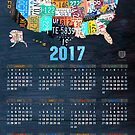2017 Calendar License Plate Map Of The Usa Recycled Wall Art by designturnpike