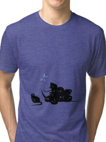 compys or tribble pile? Tri-blend T-Shirt
