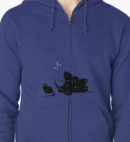 compys or tribble pile? Zipped Hoodie
