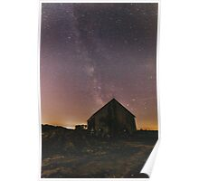 Barn With a Milky Way Poster