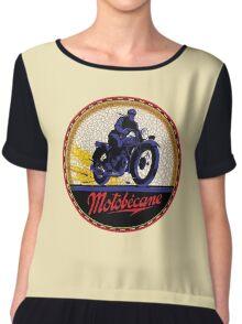 Motobecane Vintage Motorcycles Chiffon Top
