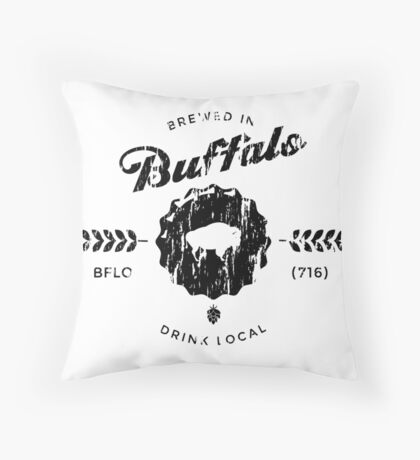 Brewed In Buffalo - Drink Local Throw Pillow