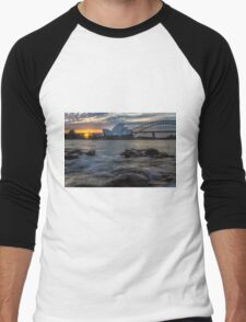 Sydney Opera House and Harbour Bridge Men's Baseball ¾ T-Shirt