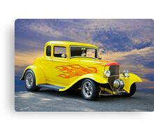 1932 Ford Five-Window Coupe Canvas Print