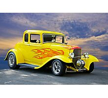 1932 Ford Five-Window Coupe Photographic Print