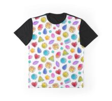 Pattern of colorful jewels. Graphic T-Shirt