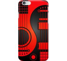 Red and Black Acoustic Electric Guitars Yin Yang iPhone Case/Skin