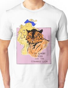 The Cowardly Lion and the Hungry Tiger Unisex T-Shirt
