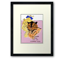 The Cowardly Lion and the Hungry Tiger Framed Print
