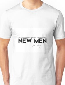 the earth does not need new continents, but new men - jules verne Unisex T-Shirt