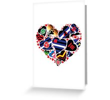 ALL PRIDE Heart / Fetish - Leather Community  Greeting Card