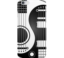 White and Black Acoustic Electric Guitars Yin Yang iPhone Case/Skin