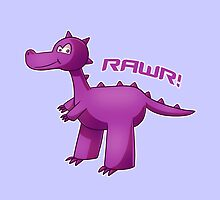 Purple T-Rex by myfluffy