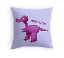Purple T-Rex Throw Pillow