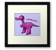 Purple T-Rex Framed Print