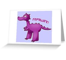 Purple T-Rex Greeting Card