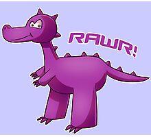 Purple T-Rex Photographic Print