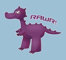 Purple T-Rex Kids Clothes