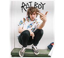 Rat Boy Middle Finger Poster Ratboy Poster