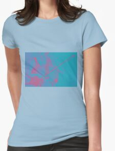 Cello player drawing. Womens Fitted T-Shirt