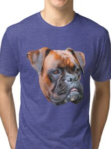 Germany boxer dog  Tri-blend T-Shirt