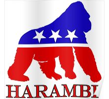 Harambe Vote  Poster