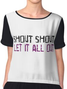 Tears For Fears Shout Song Lyrics Music Quotes Chiffon Top
