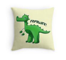 Green T-Rex Throw Pillow