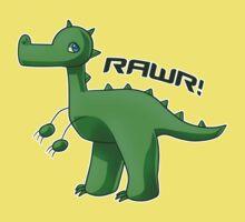 Green T-Rex Kids Tee