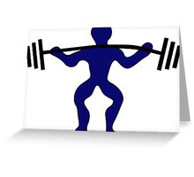 WeighT-liFter Greeting Card
