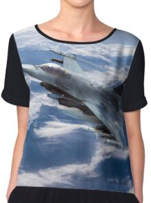 F16 Falcon Speed Chiffon Top