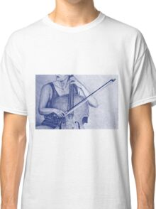 Cello player drawing. Classic T-Shirt