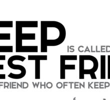 sleep is called our best friend - jules verne Sticker