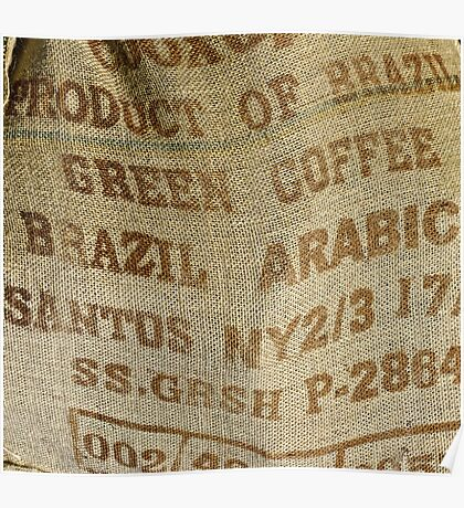 Jute sack for coffee beans Poster