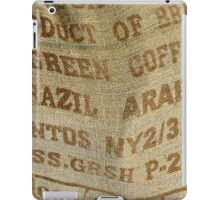 Jute sack for coffee beans iPad Case/Skin