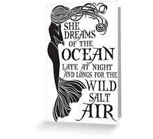 Mermaid Dreams of the Ocean Greeting Card
