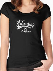 Adventure Quote1 Women's Fitted Scoop T-Shirt