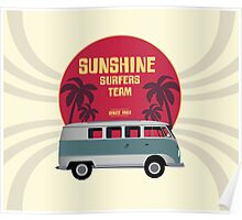 Sunshine Surfers Team Poster
