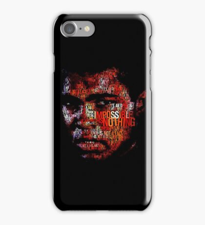 nothing is impossible iPhone Case/Skin