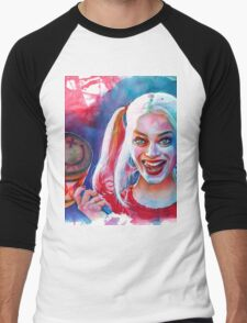 Crazy Margot Robbie Men's Baseball ¾ T-Shirt