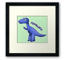 Blue T-Rex Framed Print