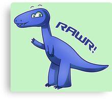 Blue T-Rex Canvas Print