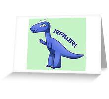 Blue T-Rex Greeting Card