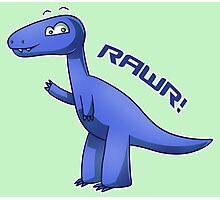 Blue T-Rex Photographic Print
