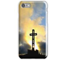 Easter Cross ~ digital paint effect iPhone Case/Skin