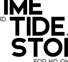 trains, like time and tide, stop for no one - jules verne Sticker