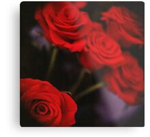 Analog photo of bunch bouquet of red roses Metal Print