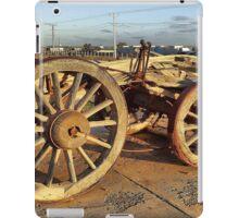 Ancient Cart at Marree Station, South Australia. iPad Case/Skin