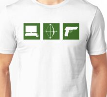 Team Arrow - Symbols in Green Box - Weapons Unisex T-Shirt